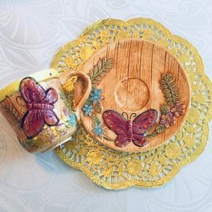 Vtg cup with plate